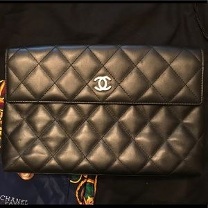 Quilted CHANEL Large Clutch